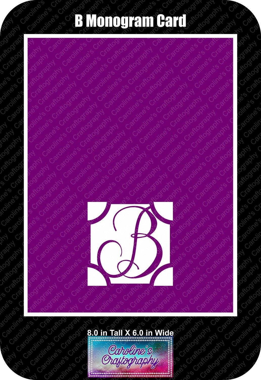B Monogram Card Base