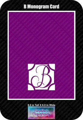 B Monogram Card Base