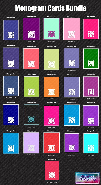 Monogram Cards Bundle