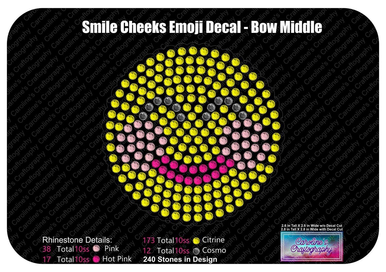 Smile Cheeks Emoji Decal