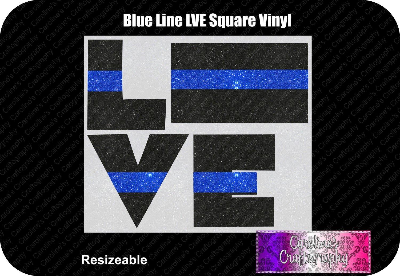 Blue Line Square LVE Vinyl