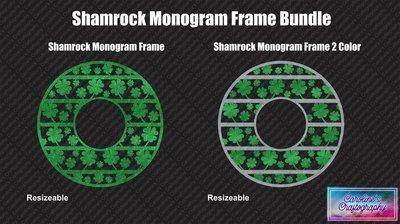 Shamrock Monogram Frame Vinyl Bundle