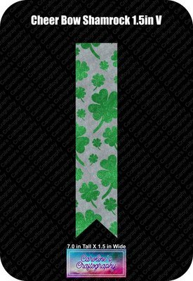 Cheer Bow Shamrocks 1.5in Vinyl