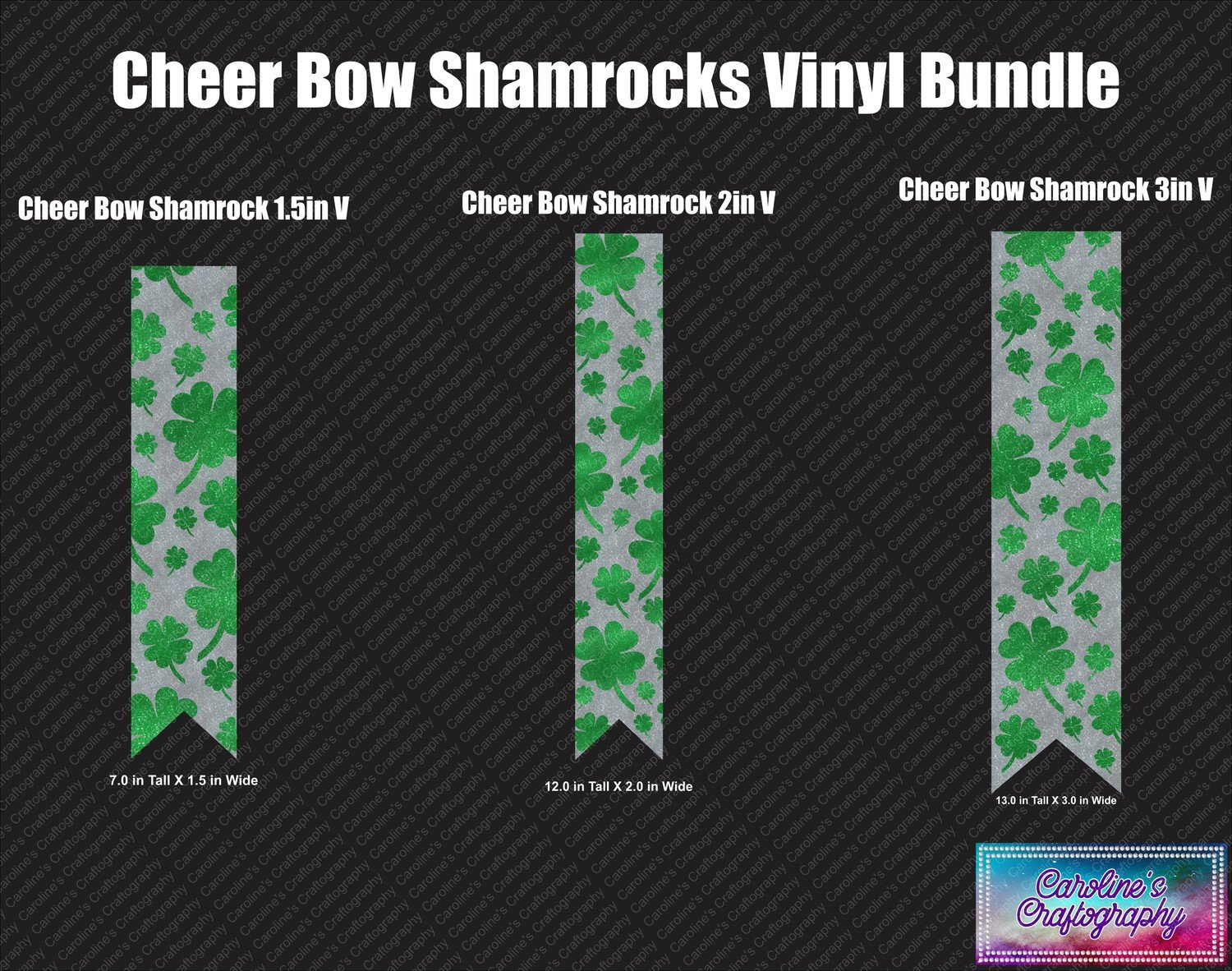 Cheer Bow Shamrocks Vinyl Bundle