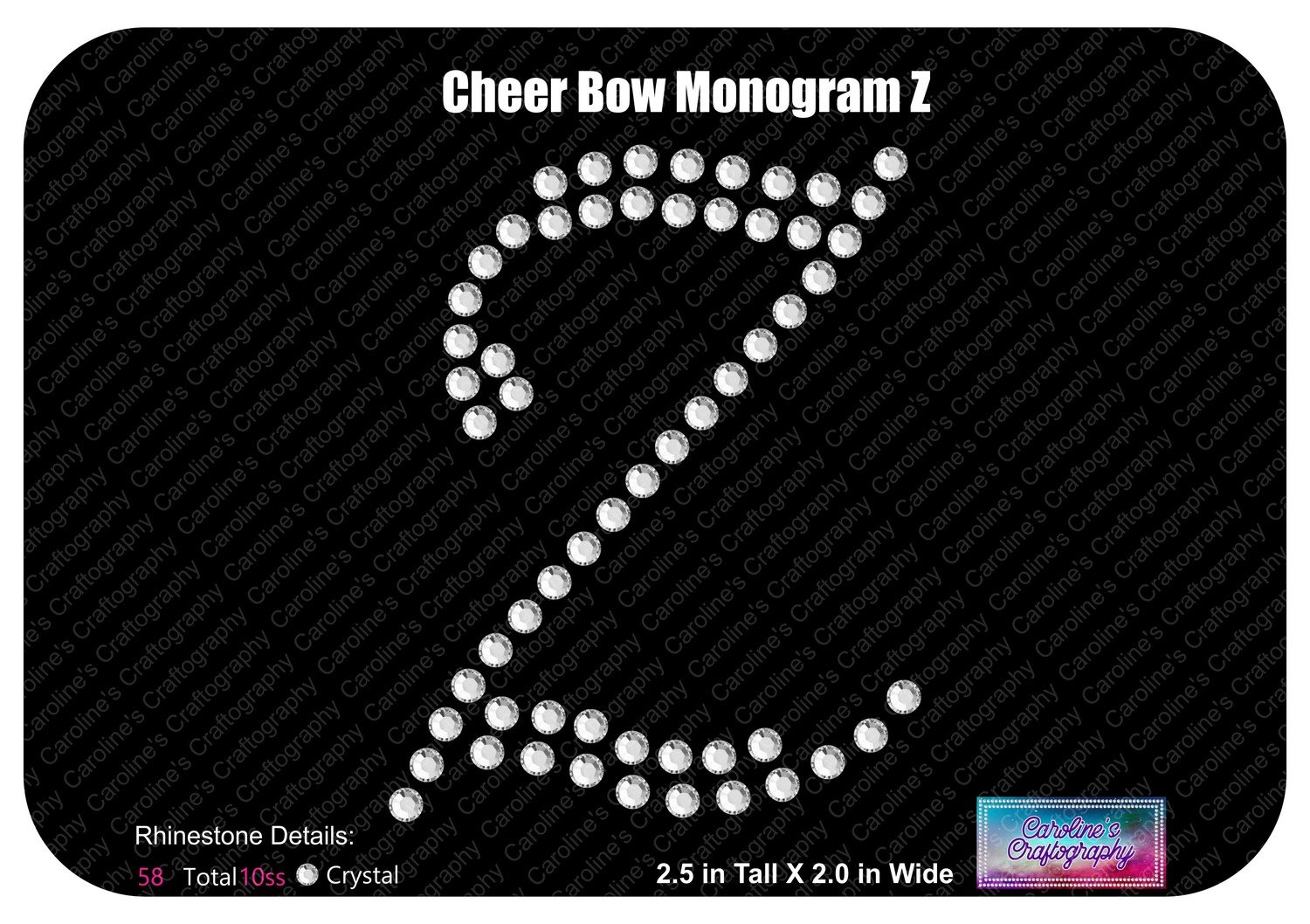 Z Monogram Cheer Add-on Stone