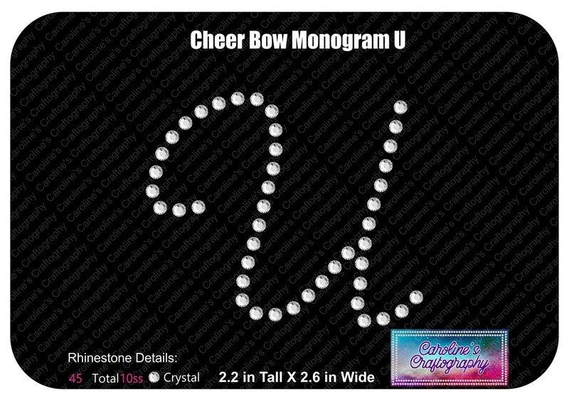 U Monogram Cheer Add-on Stone