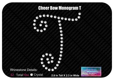 T Monogram Cheer Add-on Stone