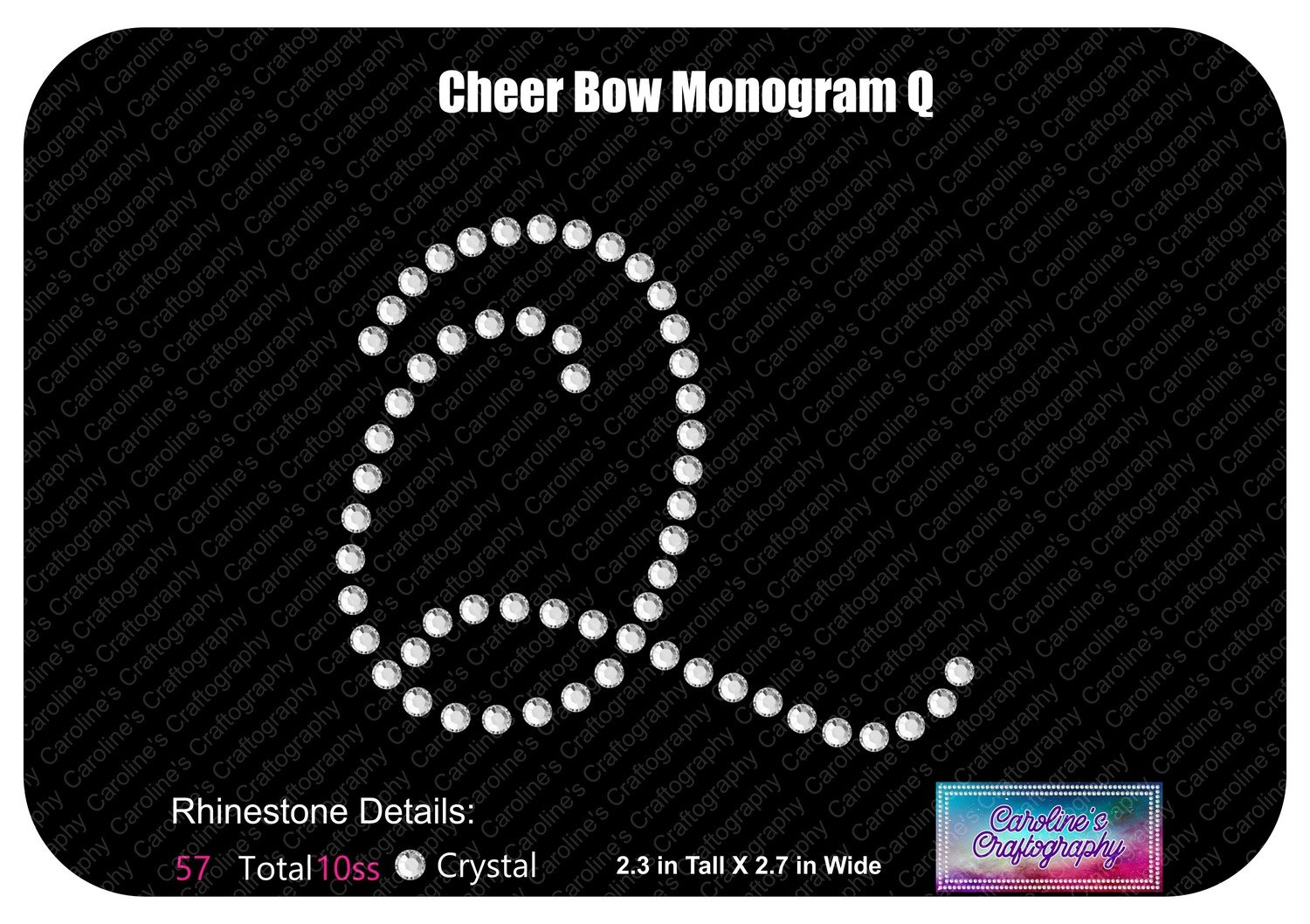 Q Monogram Cheer Add-on Stone