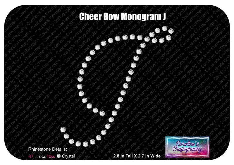 J Monogram Cheer Add-on Stone