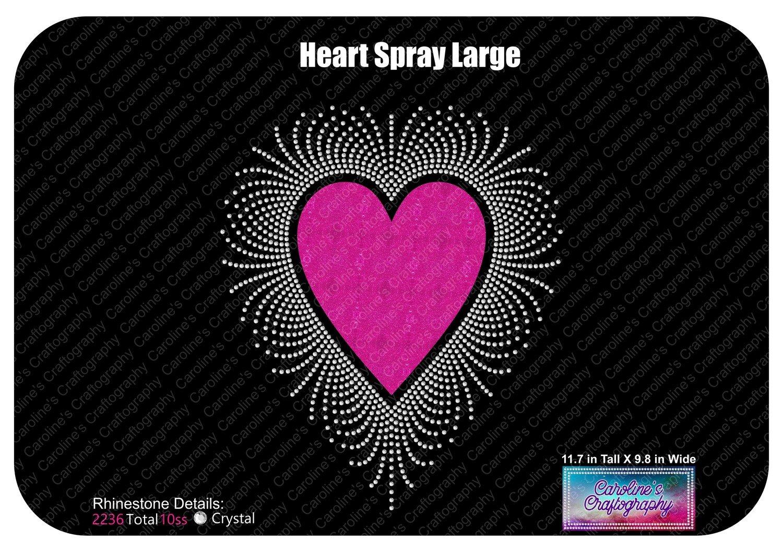 Heart Spray Large Stone Vinyl