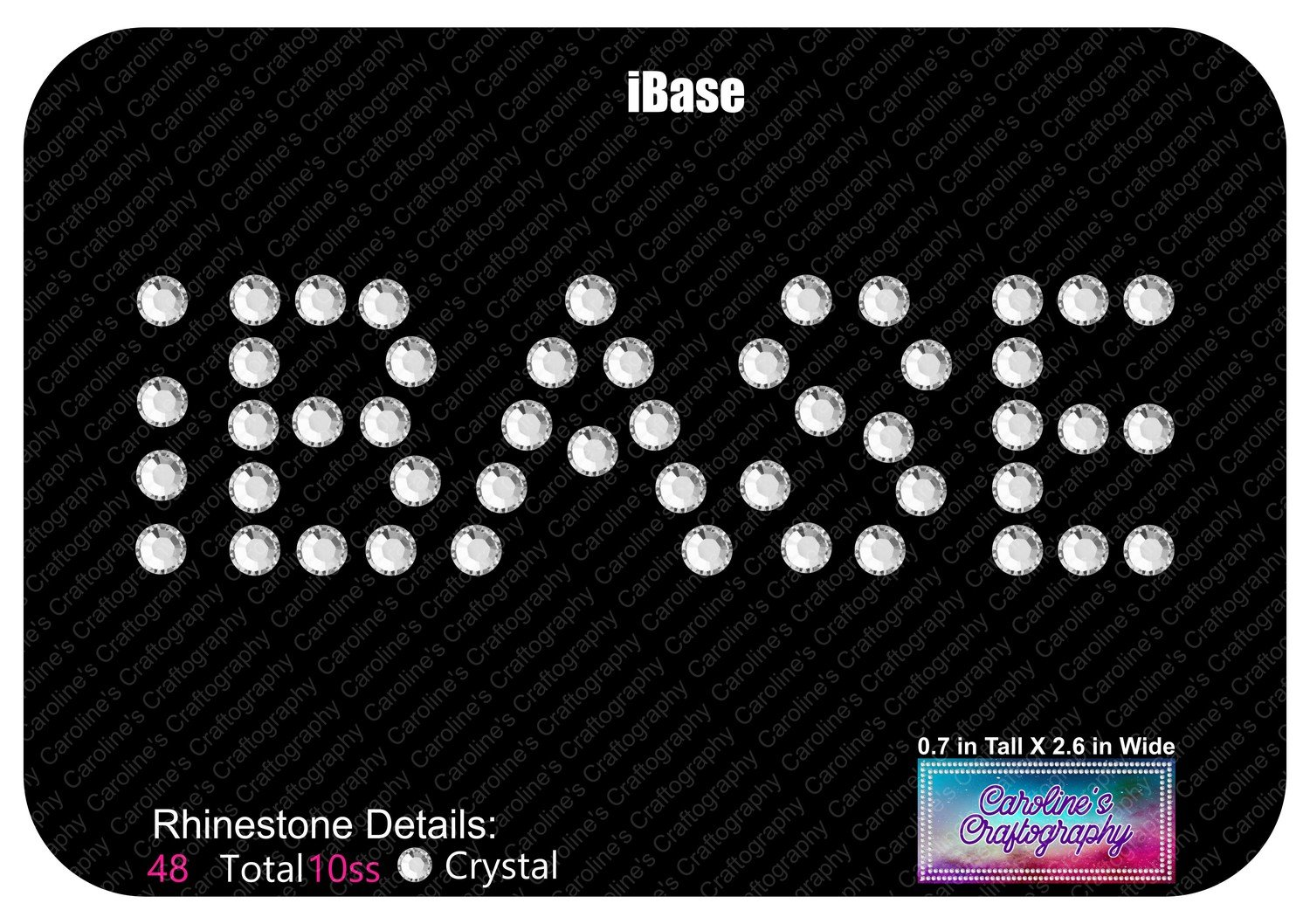iBASE Cheer Bow Add On - Small Text
