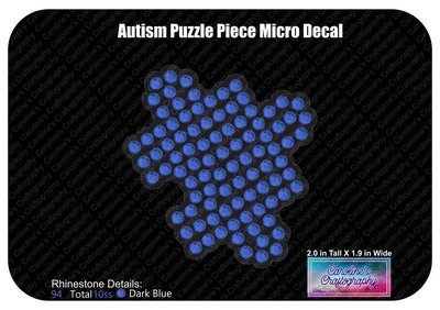 Autism Micro Puzzle Piece Decal