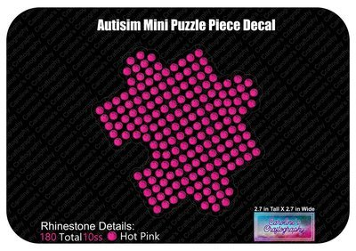 Autism Mini Puzzle Piece Decal