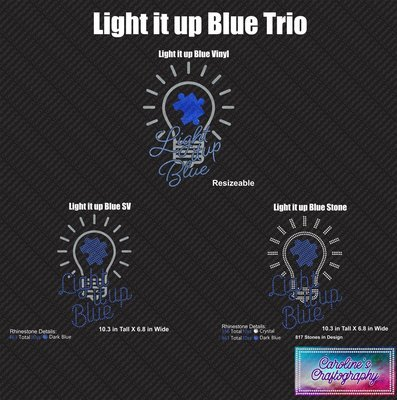 Autism Light it up Blue Trio