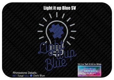 Autism Light it up Blue Stone Vinyl