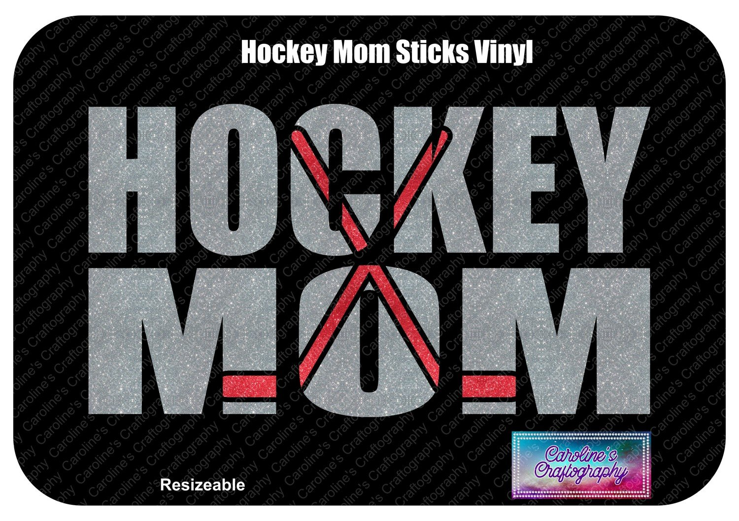 Hockey Mom Sticks Vinyl