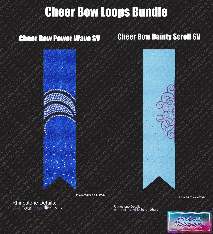 Cheer Bow Loops Bundle 3in