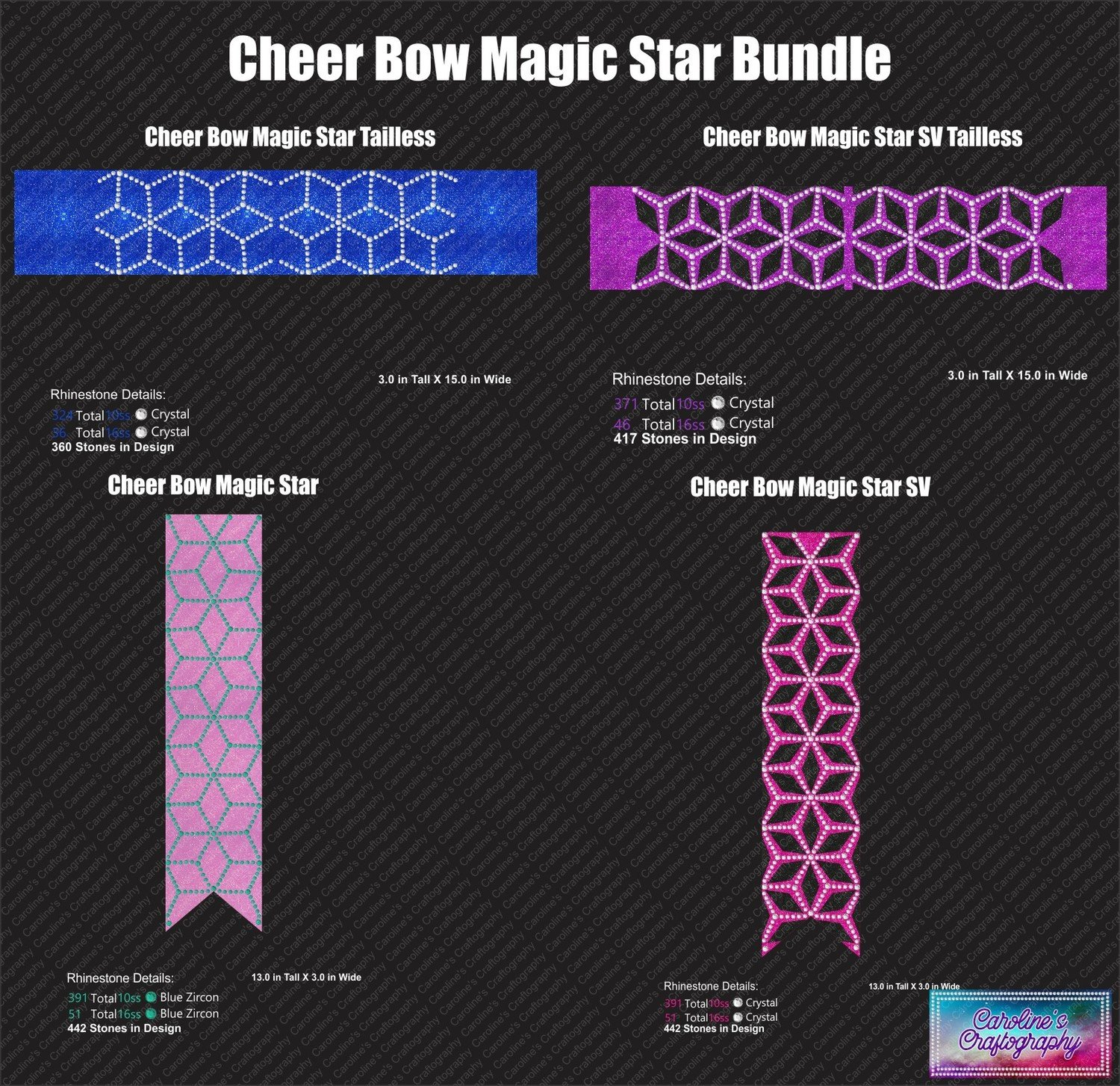 Cheer Bow Magic Star Bundle