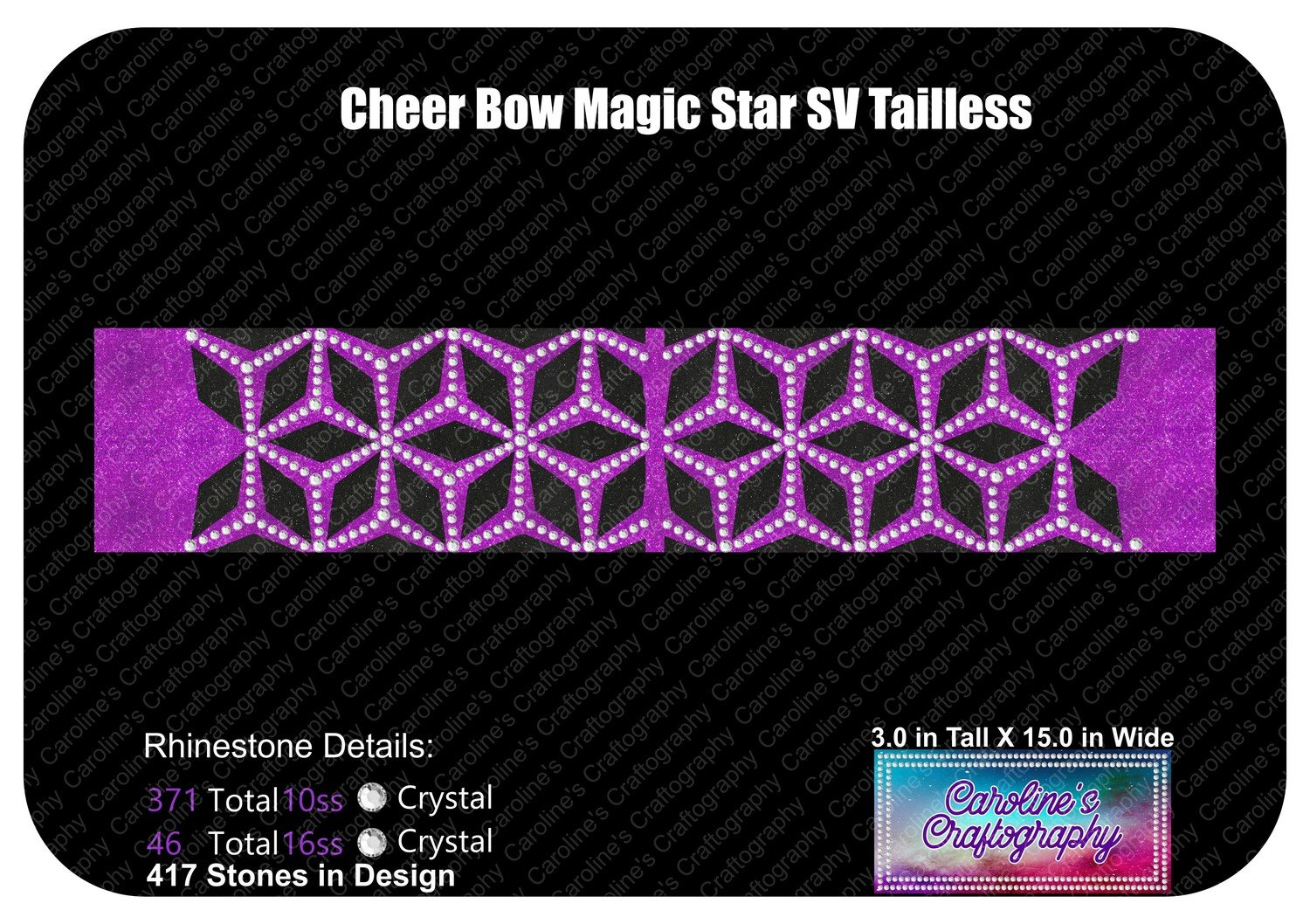 Tailless Cheer Bow Magic Star Stone Vinyl