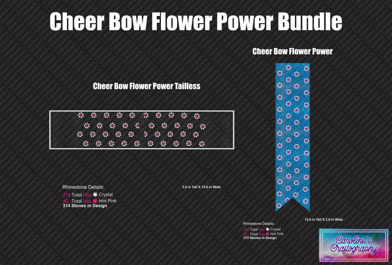 Cheer Bow Flower Power Bundle