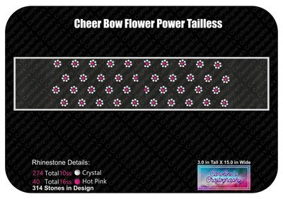 Tailless Cheer Bow Flower Power Rhinestone