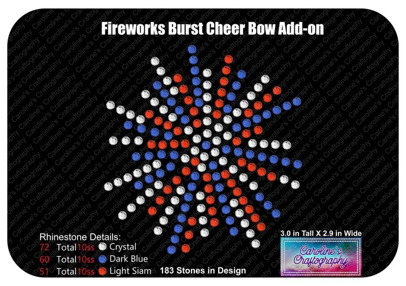 Fireworks Burst Cheer Bow Add-on Stone