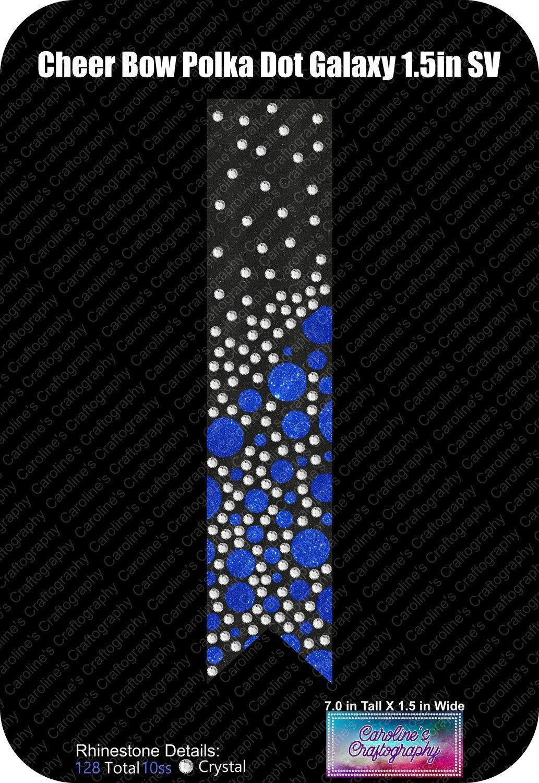 Polka Dot Galaxy Stone Vinyl Cheer Bow 1.5 inch