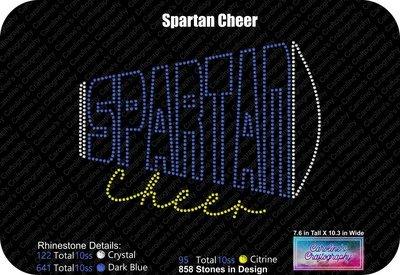 Spartan Cheer Megaphone Stone