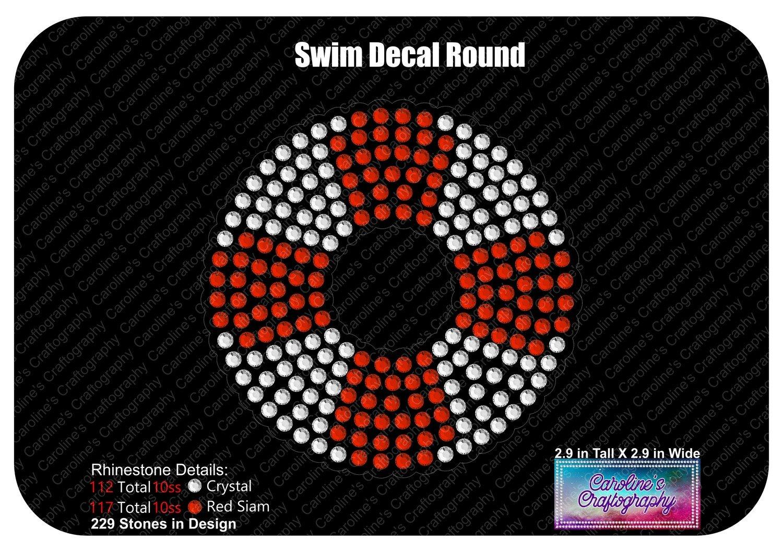 Swim Life Preserver Round Decal
