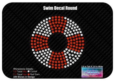 Swim Life Preserver Round Decal
