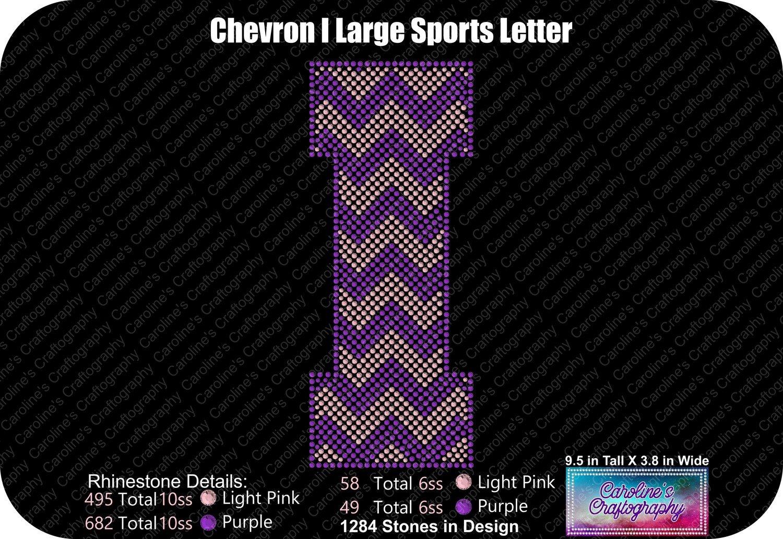 I Chevron Large Sports Letter