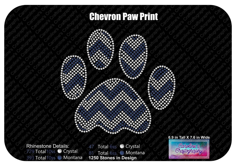 Chevron Large Paw Print