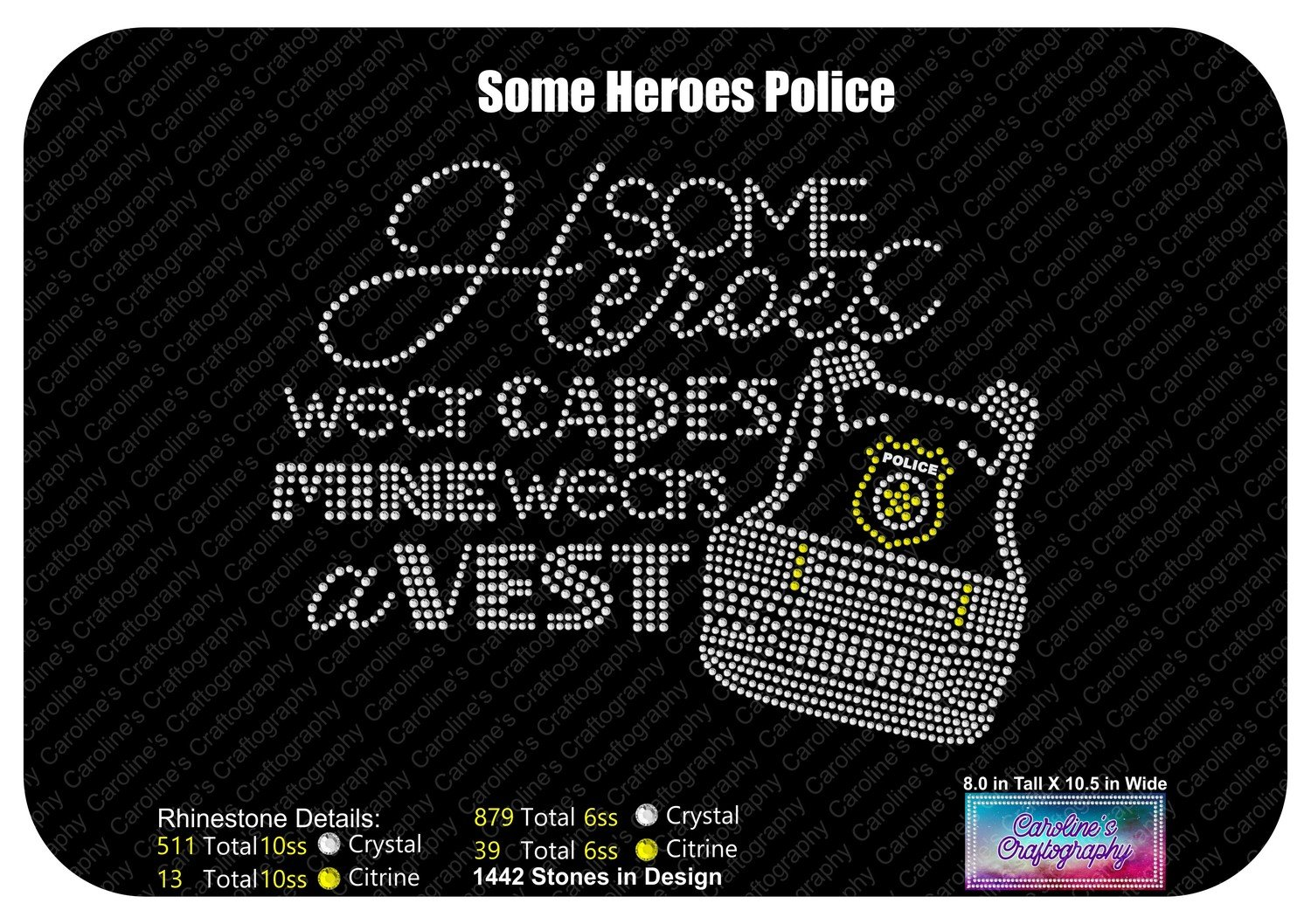 Some Heroes Wear Capes Police Version Stone Vinyl