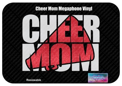 Cheer Mom Megaphone Vinyl (No Bow)