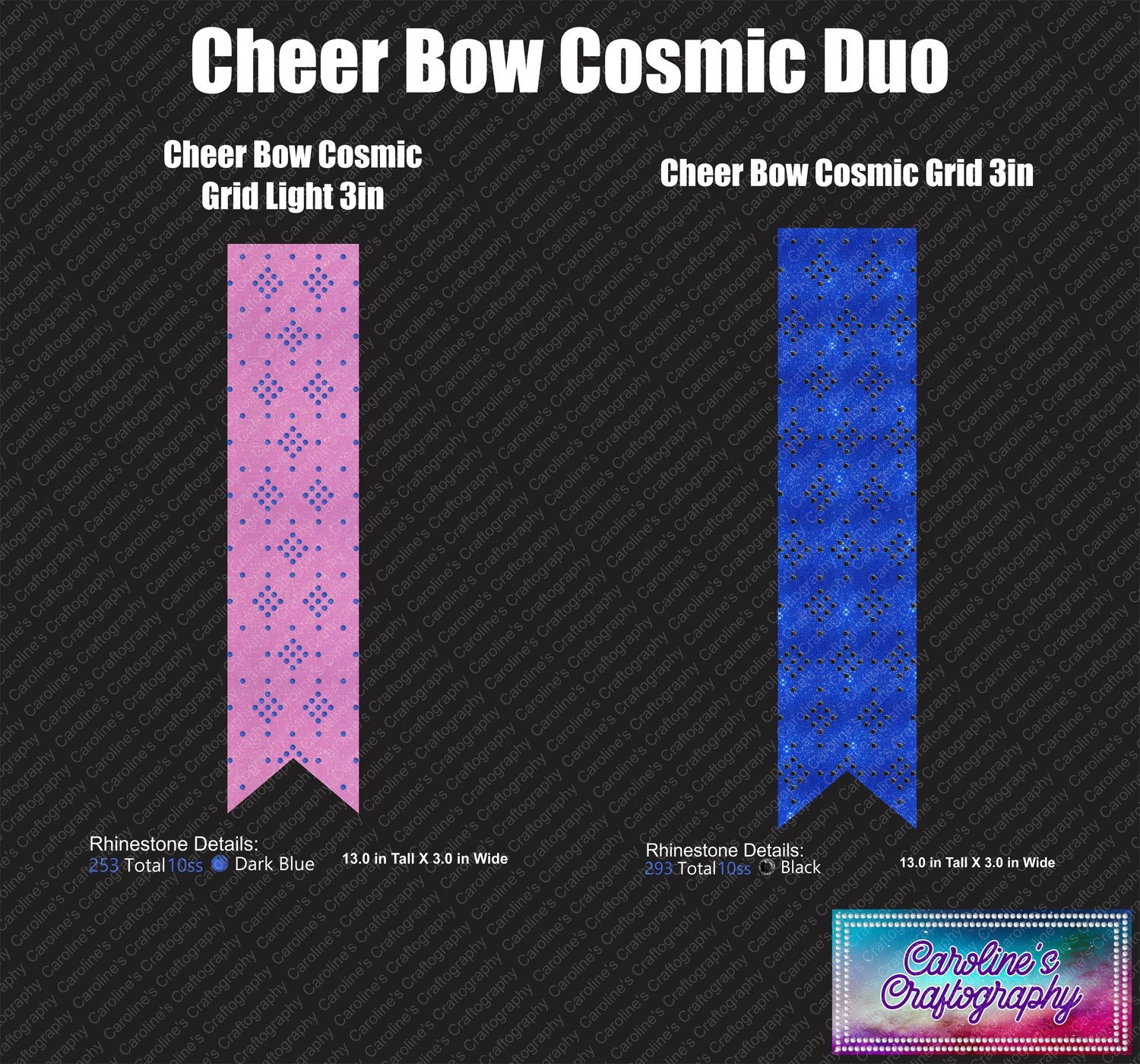 Cheer Bow Cosmic Grid Duo