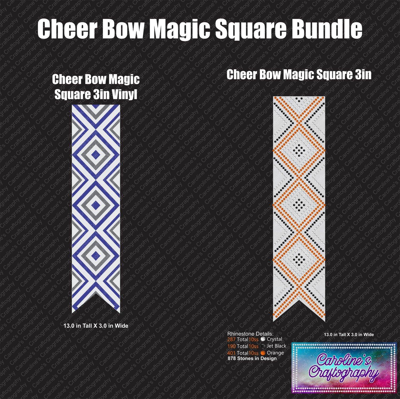 Cheer Bow Magic Square Bundle Duo
