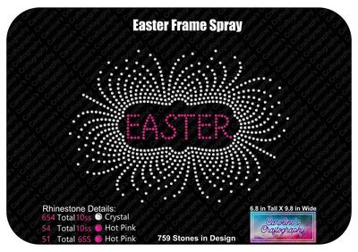 Easter Frame Spray Stone