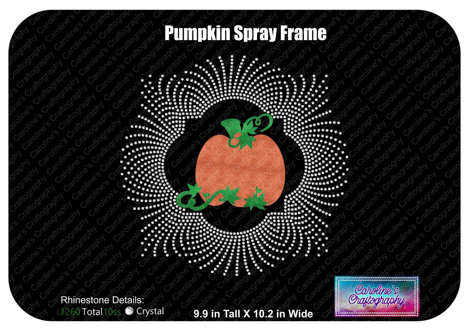 Pumpkin Spray Frame Stone