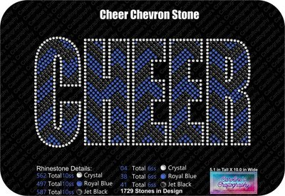 Cheer Chevron Stone