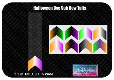Halloween Dye Sub Bow Tails