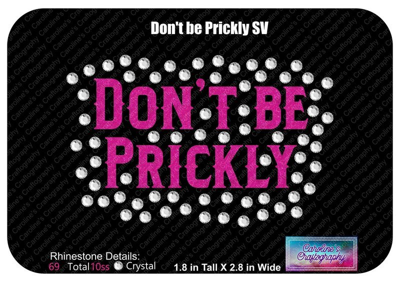Don't Be Prickly Stone Vinyl Text Bow Add-on