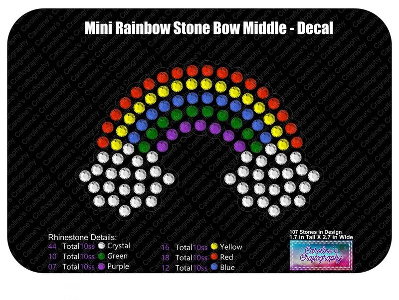 Mini Rainbow Decal and Cheer Bow 3D Add-on