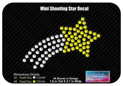 Mini Shooting Star Decal Cheer Bow add-on 3D middle
