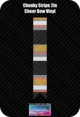 Cheer Bow Chunky Stripe 2in Vinyl
