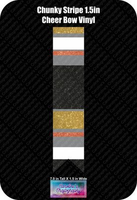 Cheer Bow Chunky Stripe 1.5in Vinyl