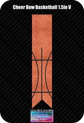 Cheer Bow Basketball 1.5in Vinyl