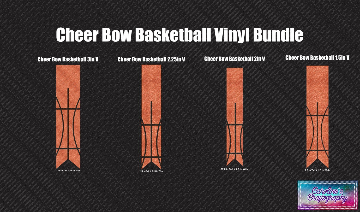 Cheer Bow Basketball Vinyl Bundle