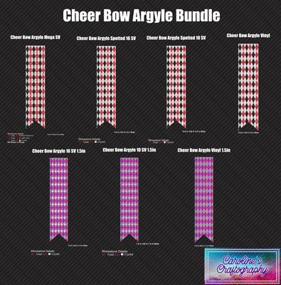 Cheer Bow Argyle Bundle