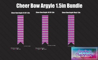 Cheer Bow Argyle 1.5in Bundle