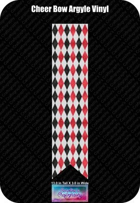 Cheer Bow Argyle 3in Vinyl